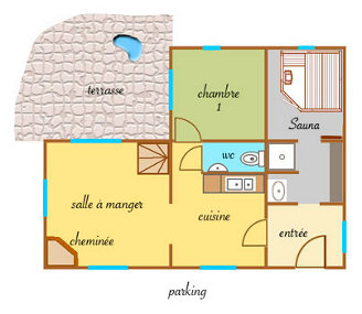 Plan du rez-de-chaussée du chalet du Saix